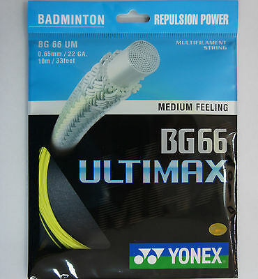 10 Packs  YONEX Badminton String BG66 Ultimax BG 66 UM YELLOW Made in Japan