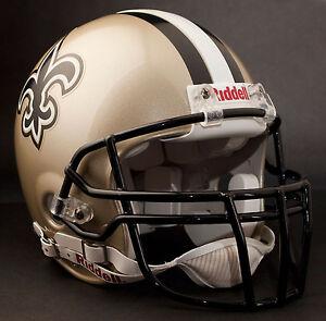 DREW-BREES-NEW-ORLEANS-SAINTS-Schutt-OPO-DW-Football-Helmet-FACEMASK-BLACK