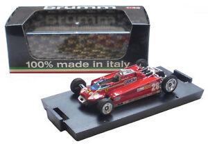Brumm Ferrari 126ck Monaco 1981 Configuration de transport - Echelle D Pironi au 1/43