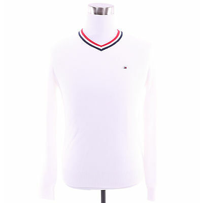 Tommy Hilfiger Men Classic V-Neck Golf Solid Sweater - Free $0 Shipping