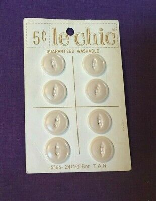 8 Cards of La Chic Vintage Buttons