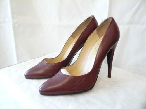 """Court Shoes """" Bordeaux-Red """" 1980 City 55 Paris T."""