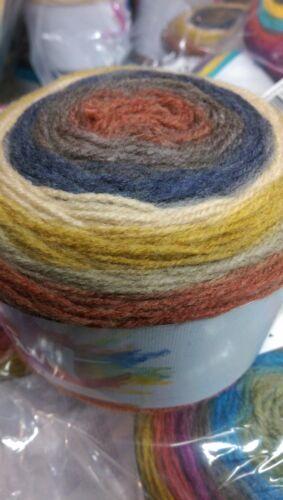 Katia Paint yarn cake Kit to knit a poncho
