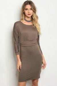 1ef655bab614 Image is loading Gilli-Long-sleeve-jersey-bodycon-dress-that-features-