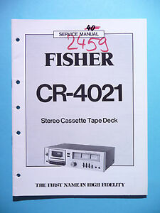 Servicio-Manual-de-instrucciones-para-Fisher-cr-4021-original