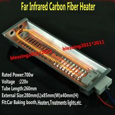 Far Infrared Carbon Fiber Paint Curing heating Lamp Fit Baking Booth/Oven 700w S