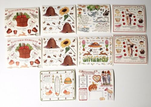 "Susan Branch Sticker Lot 10 Sheets Garden Earth Bees Picnic Friends 4.5/"" x 5/"""