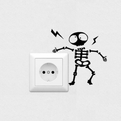 Wall Switch Sticker Home Decoration Individuality Skeleton Wall Sticker Decal