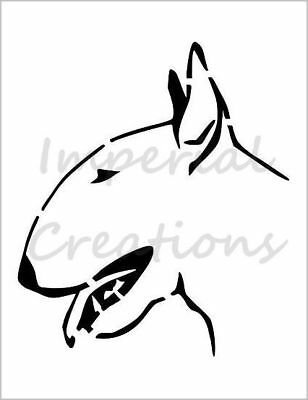 """/""""YORKIE/"""" Dog Face Yorkshire Terrier 8.5/"""" x 11/"""" Stencil Plastic Sheet NEW S127"""