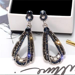 Details About New Luxury S925 Silver Rhinestone Zircon Glitter Drop Earrings Diamond