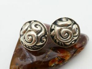 925-Sterling-Silver-Polished-Smooth-Celtic-Scrollwork-Dome-Post-Earrings
