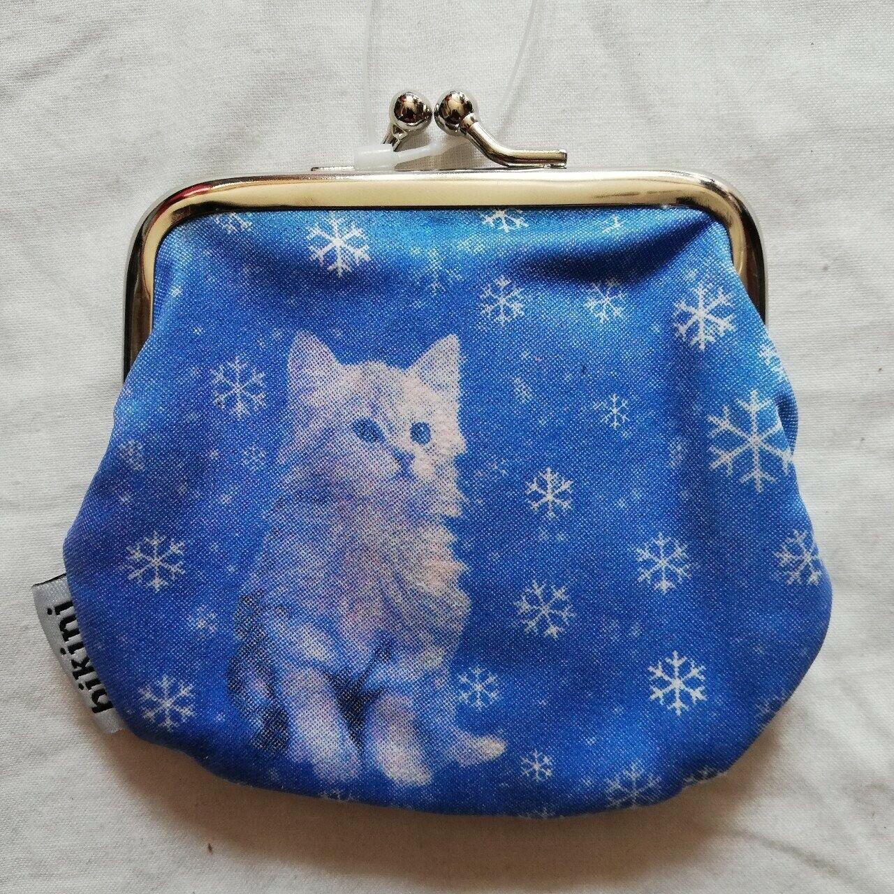 Cute Kitty Cat Kitten clasp fastening coin Purse by Bikini Skinny Dip