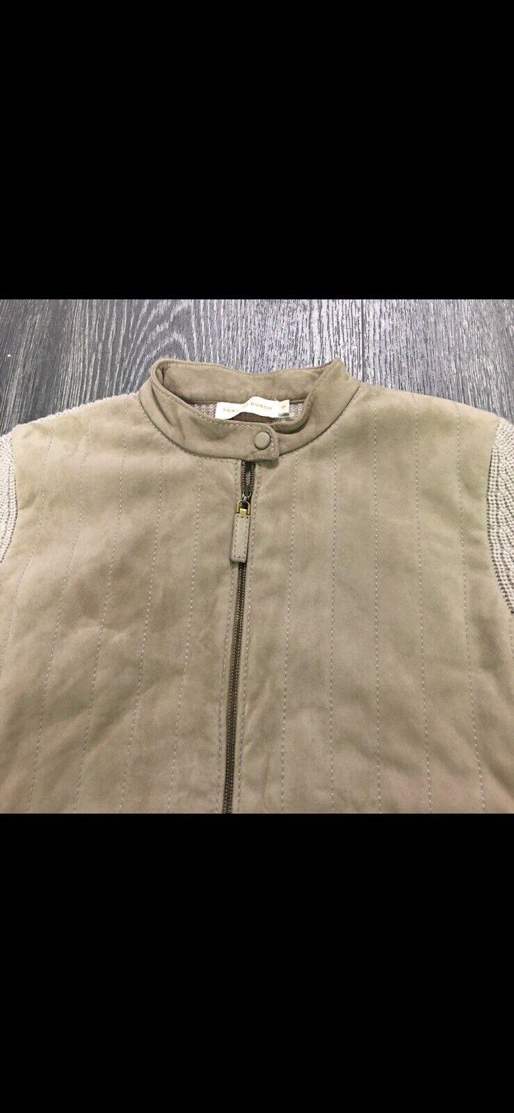 Tory Burch Wool/Suede Cardigan Blazer Size Small  - image 2