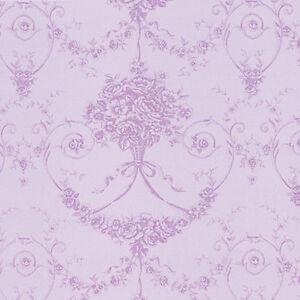 Cotton-100-Satin-weave-Fabric-Bedding-Covering-Antique-Dandy-Damask-Purple-44-w