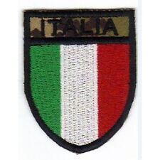 [Patch] SCUDETTO ITALIA vegetato mimetico softair cm 5 x 6,3 toppa ricamata -231