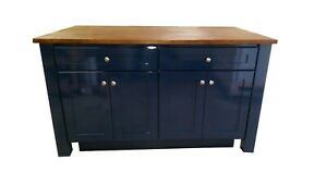 5ft Blue Kitchen Island W O Countertop Made In Us Available For Custom Ebay