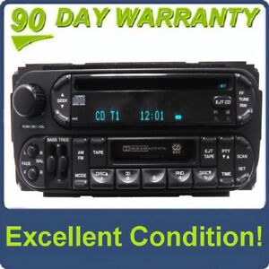 Details about CHRYSLER JEEP DODGE Durango Ram AM FM Radio CD Tape Cette on