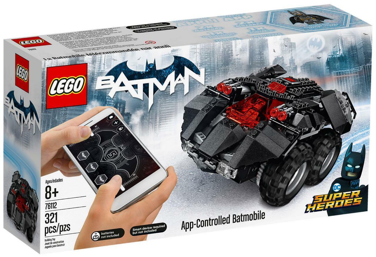 Batman app control Batman. Nuevo sello lego 76112.