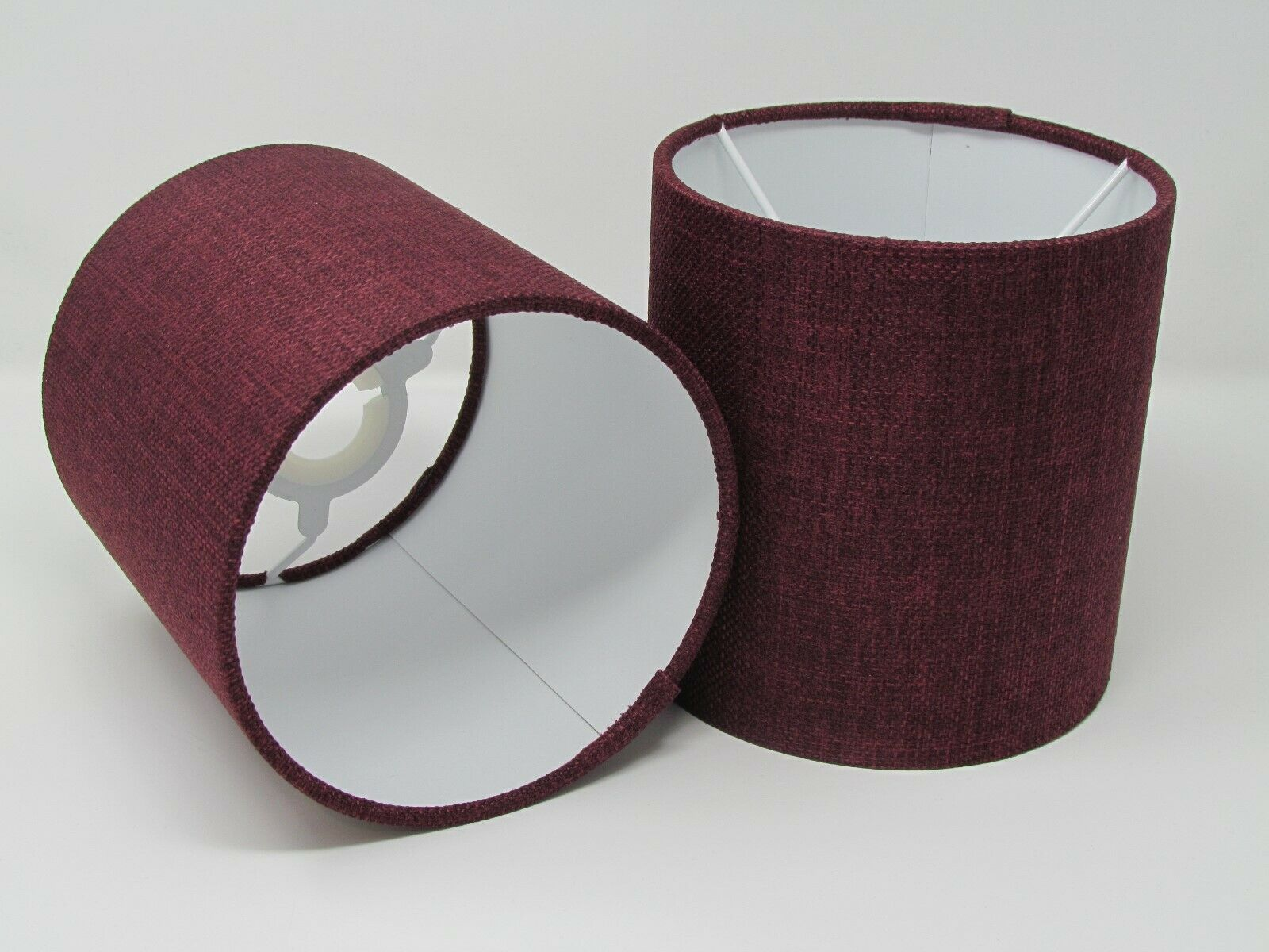 Plum Texturot Woven Drum Lampshade Ceiling Shade Statement Contemporary