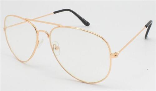 Celebrity Gold Clear Lens Chelsea Teardrop Pilote Lunettes De Soleil Vintage Classique