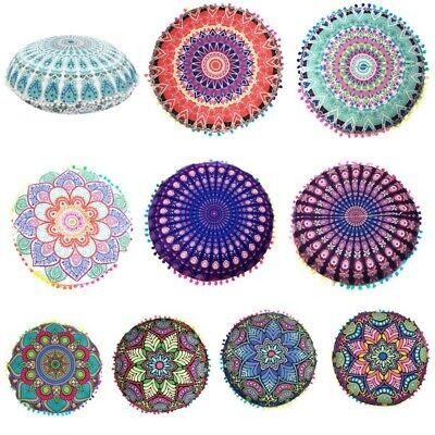 Large Round Mandala Meditation Floor Pillow Indian Tapestry Bohemian Throw USA