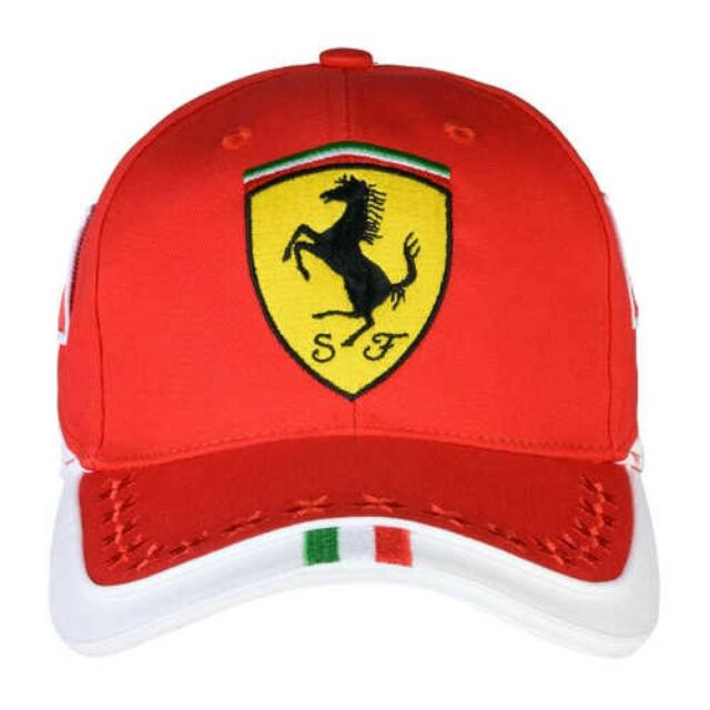 Scuderia Ferrari Cap Embroidery 16 Stars Tricolor 42305 Brick Red Japan Tracking For Sale Online Ebay