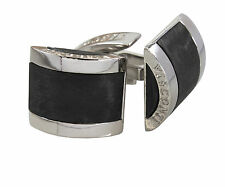 Visconti Bridges Carbon graphite and Ru-plated Cufflinks