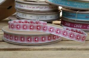 EAST OF INDIA vintage word ribbon Mr and Mrs 20 Metre Roll 3120 EOI