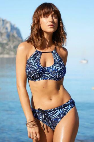 Pour Moi BARRACUDA con Cintura Slip Bikini 45005 Nero Blu Da Donna