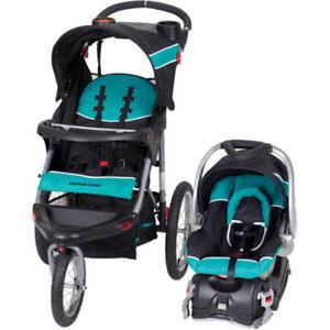 Image Is Loading Baby Trend Travel System Infant Jogger Stroller Safe
