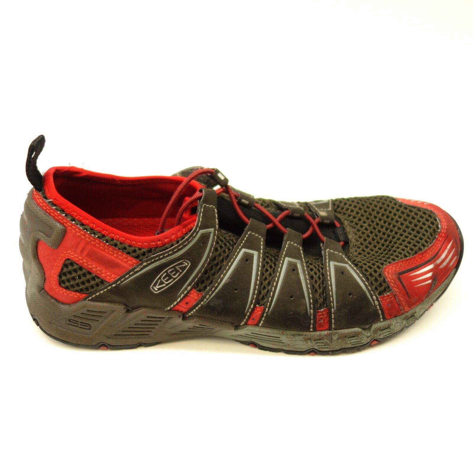 Keen Rojo Negro US 10 Senderismo Peso Ligero Transpirable Zapatos Hombre
