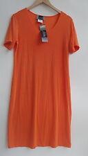 Slinky Brand Short Sleeves Orange Women's Dresses Size-M-Ne- (made in USA)