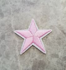 STAR PATCH PINK GIRL IRON ON BADGE APPLIQUE