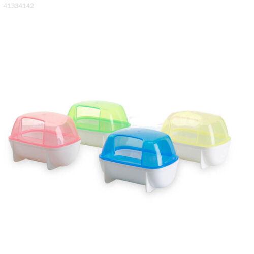 Small Animal Hamster SaunaSand Bath Room Bathing Potty Toilet Plastic