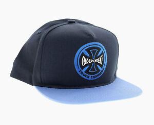 7af99fd51 Details about INDEPENDENT HOLLOW CROSS SNAPBACK HAT, Skate Cap, Embroidered  Logo, Navy/Royal