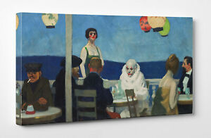 Quadro-Hopper-Soir-Bleu-Stampa-Fine-Art-di-Pregio-su-Tela-Vernice-Pennellate