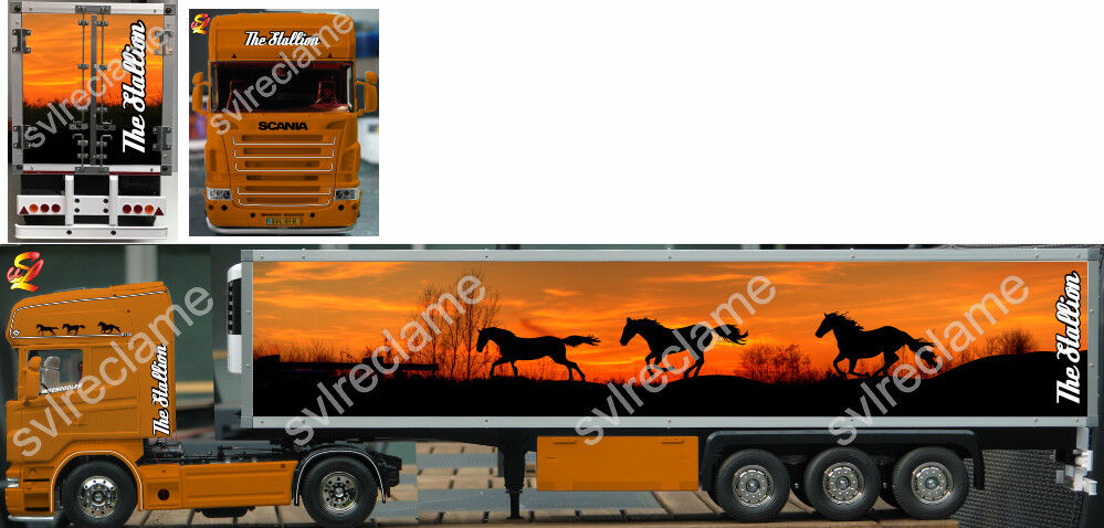 STALLION Decal set for Tamiya 1 14 RC 3-Axle Reefer Trailer (ONLY FOR TRAILER)