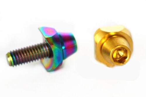 2Pcs Titanium Front Derailleur Retaining Screw Bolts With  Quartet Concave Pads