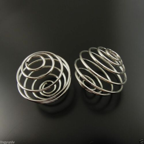 Silver Tone Iron Beads Cage Jewelry Finding Hot Sale 19mm 35493-115F