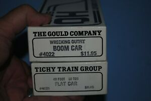 Gould-Tichy-Flat-Car-amp-Boom-Car-Kits-4021-and-4022