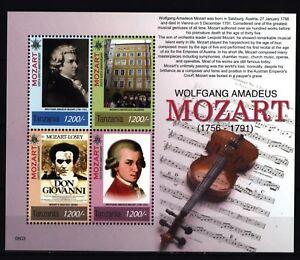 Tansania-2006-Wolfgang-Amadeus-Mozart-Geige-Don-Giovanni-Partitur-Noten