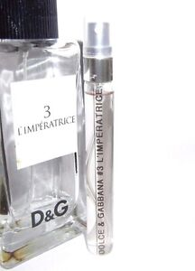 4bb08c32 Dolce & Gabbana D&G # 3 L'Imperatrice 10ml Eau de Toilette SAMPLE ...