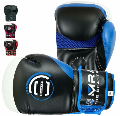 EMRAH Leather Boxing Gloves Sparring Training MMA Punching Cage Fighting