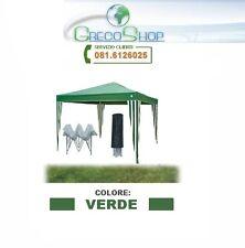 Gazebo per Fiere pieghevole impermeabile in alluminio 3x3m Verde - Mod. Ignis