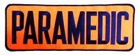 Paramedic Navy Orange 4 X 11 Jacket Back Emblem Patch Sew On Embroidered