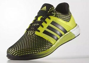Adidas Solar Boost 8 Neon Yellow Green Black White Men Running Shoes ... 7d05592a9493c