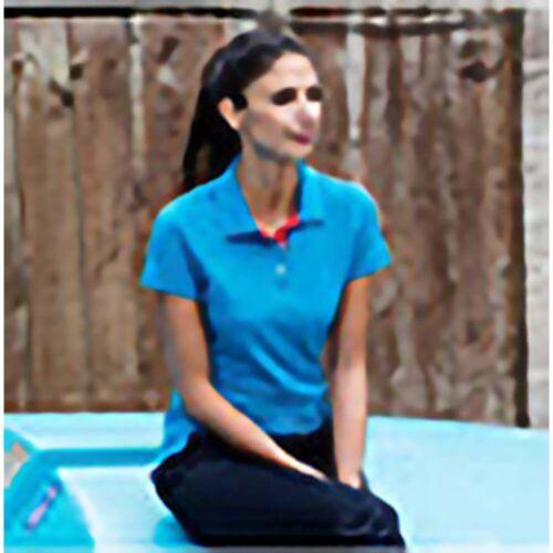 Henbury Womens//Ladies Slim Fit Contrast 65//35 Polo Shirt RW630