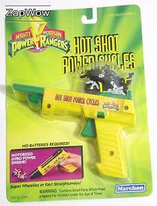 HOT-SHOT-POWER-CYCLES-1994-Black-Mighty-Morphin-Power-Rangers-Hornby-MOC-VTG