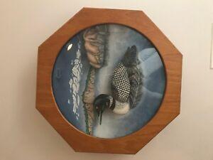 Handmade original artwork by tom evans loon wood carving ebay