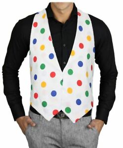 Adults-Size-Children-in-Need-Multicoloured-Polka-Dot-Backless-Waistcoat-CIN